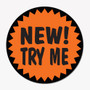 New! Try Me Promotion Sticker