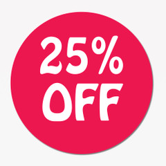 25% off Promotion Sticker