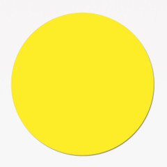 Yellow Blank Promotion Sticker