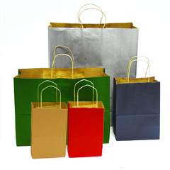 Quality Kraft Shopping Bags - 100-pack