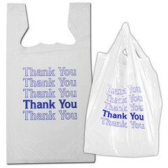 "Plastic ""Thank You"" Shopping Bags 1,000-case"
