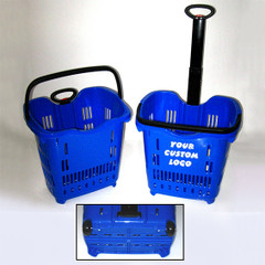 Rolling Shopping Basket with handle