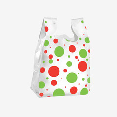 Holiday Dotted T-Shirt Style Gift Bags