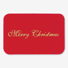 """Merry Christmas"" Red Gift Tag"
