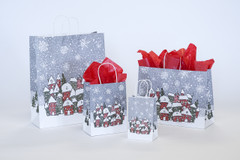 Holiday Kraft Shopping Gift  Bag