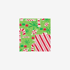 Contemporary Canes (reversible)  Gift Wrap
