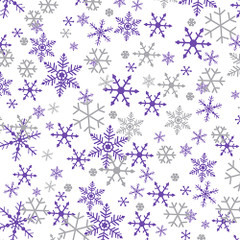 Silver & Purple Snowflakes Tissue Paper, 200-Pack