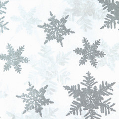 Silver & Pearl Snowflakes Tissue Paper, 200-Pack