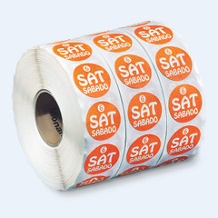 "3/4"" Circle Days of the Week Labels"