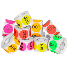 "2"" Month of Year Circle Labels Kit, 500/Roll"