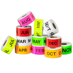 Month of Year Square Labels- 500/ Roll