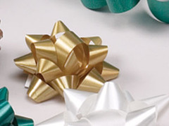 Holiday Gold Star Bow -200/pack