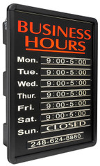Business Hour Sign