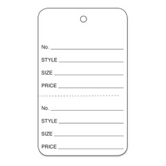 String & Perforated Garment Price Tags