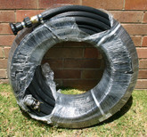 "36m length of 1"" Fire Hose (Australian Made) with camlock and Brass Fire Nozzle"