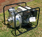 Honda GX160 5.5 hp Engine & SERH-50F Koshin Heavy Duty Single Impellor Fire Pump End in a steel roll frame - Made in Japan