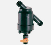 "Amiad 1"" Super filter with 55 micron stainless steel screen and flush valve."