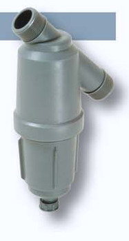 "1 1/2"" Amiad Tagline filter with 130 micron stainless steel screen."