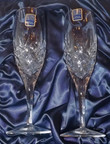 Royal Scot Hand Cut Crystal Champagne Glasses