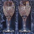 Royal Scot Hand Cut Crystal Wine Goblets