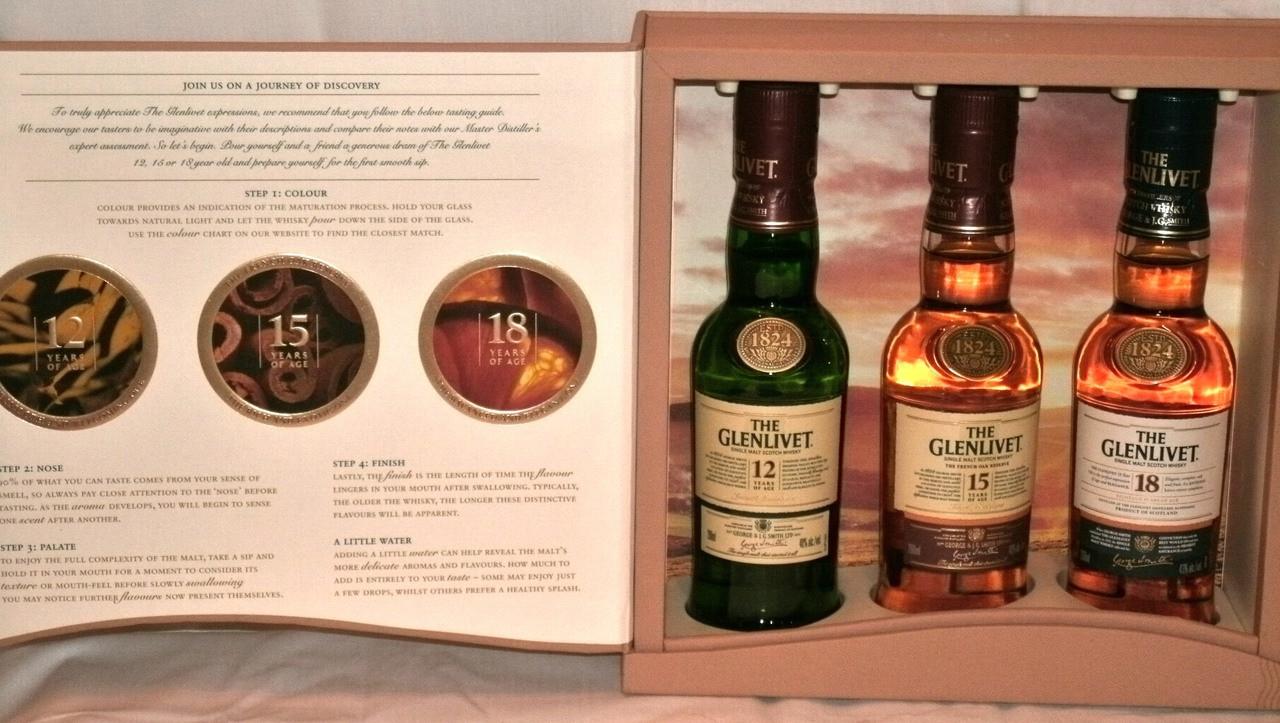 glenlivet tasting kit 200ml bottles the whisky shop