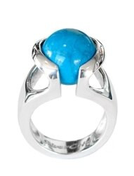 sterling silver, ring, ball ring, sphere, interchangable