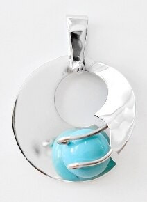 Sterling Silver, Pendant, Sphere, Ball, Round,Switchable
