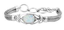 white opal, silver bracelet, sterling, SILVER