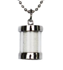 siesta key, sand, silver, necklace, pendant, sand capsule, white, quartz