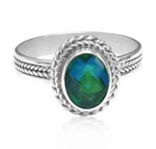 Quartz, sterling silver, ring, gemstone, siesta key, watercolor, oval,Sarasota, Florida