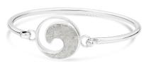 wave, sterling silver, Bracelet, bangle, cuff, siesta Key, beach, dune jewelry, sand
