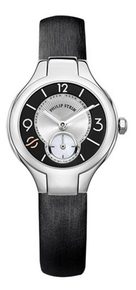 PHILIP STEIN, LADIES WATCH, STAINLESS STEEL, BLACK, DUAL TIME ZONE, CLASSIC MINI, Natural frequency Technology