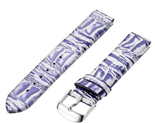 PHILIP STEIN, WATCH STRAP, PURPLE, SILVER, OSTRICH, 1-COPRS