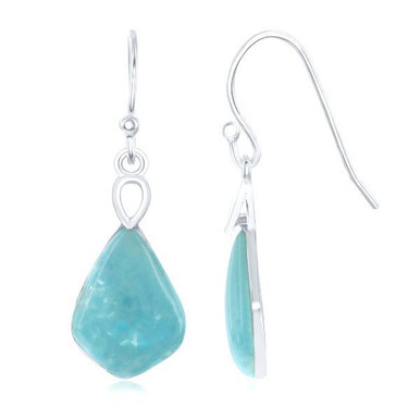 handcrafted shaped larimar design for party oval product silver from earrings american sterling pure gemstone evening