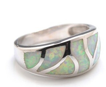 white , opal, sterling silver, band, ring, inlay, 925