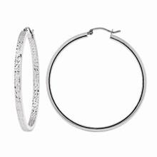 white, gold, 10k, hoop, earrings, hoops, round, diamaond cut