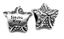 sterling silver, starfish, charm, Siesta Key, beach