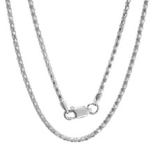diamond cut, sterling silver, popcorn, link, chain, 925, sparkle, rhodium plated