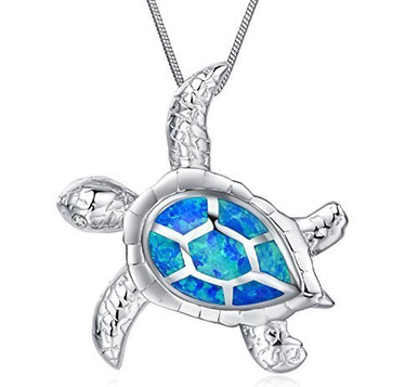 Blue lab opal turtle pendant opb725 sterling silver sea turtle pendant necklace 925 aloadofball Gallery
