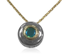 14k, gold, siesta key, watercolor gemstone, white gold,yellow gold, necklace, pendant