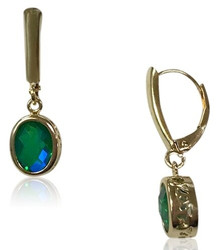 14 K , gold, siesta key, gemstone, quartz, watercolor, oval, green, blue, lever backs