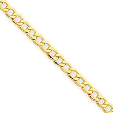 14k, gold, Curb Link, Chain, yellow, bracelet
