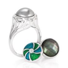 KR036,,kamelon, jewelpop, silver, ring, blossom,