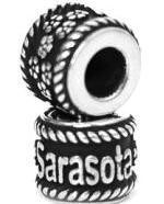 Reflection Beads, sarasota, sterling silver, siesta key beach, pandora bead,
