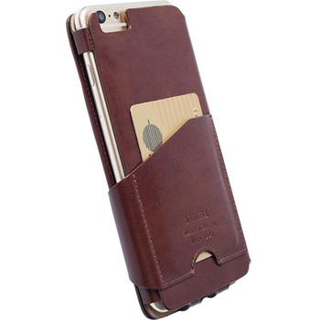 Apple iPhone 6 PLUS FlipWallet Case Krusell Kalmar Brown