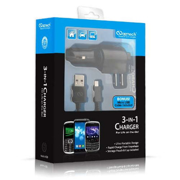 Naztech Micro USB 3-In-1 Charger