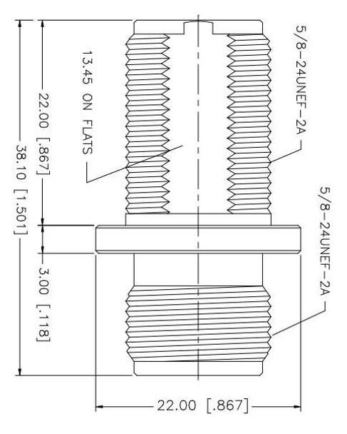 N Female To N Female Bulkhead Adapter Specifications