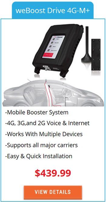 Mobile Signal Booster weBoost Drive 4G-M+