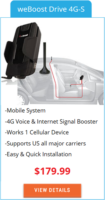 Mobile Signal Booster weBoost Drive 4G-S