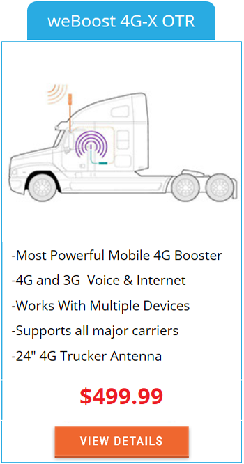 Mobile Signal Booster weBoost 4G-X OTR